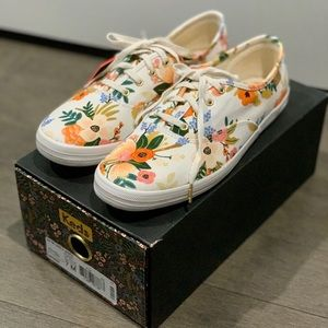 Keds x Rifle Paper - White Botanical Sneakers
